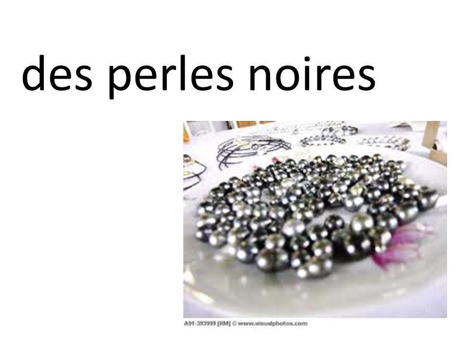des perles noires