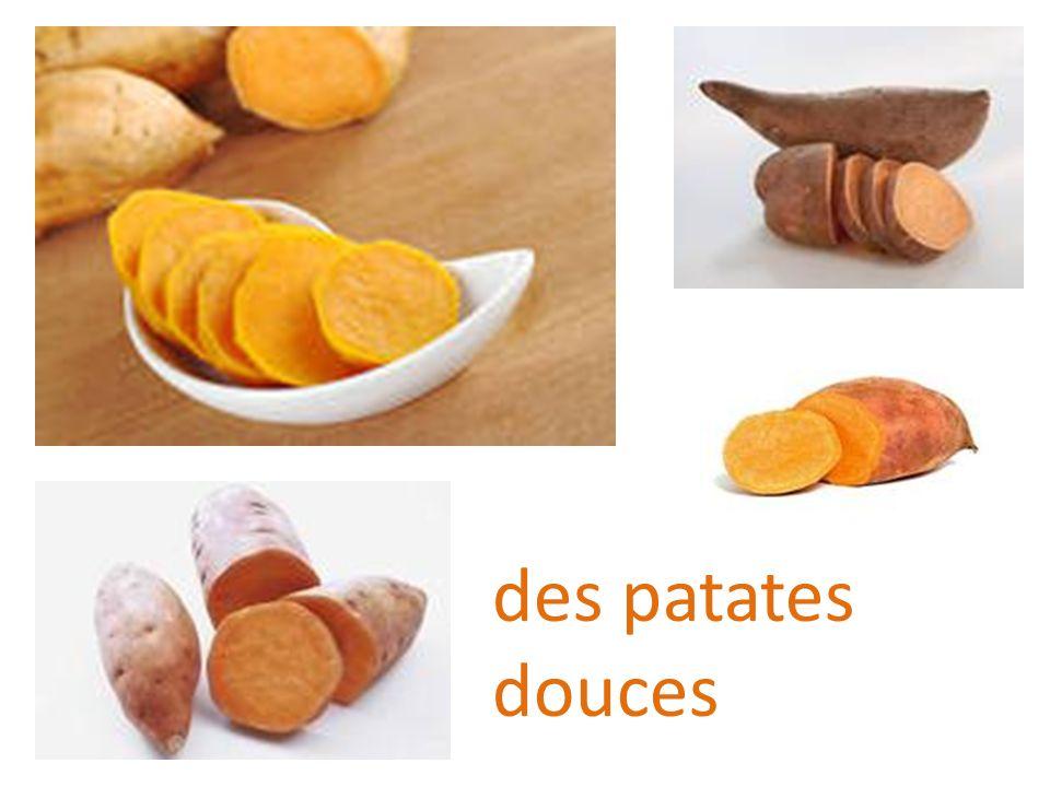 des patates douces