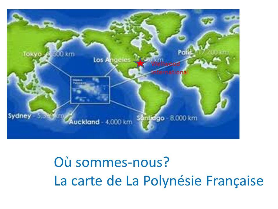 Où sommes-nous La carte de La Polynésie Française Wellwood International