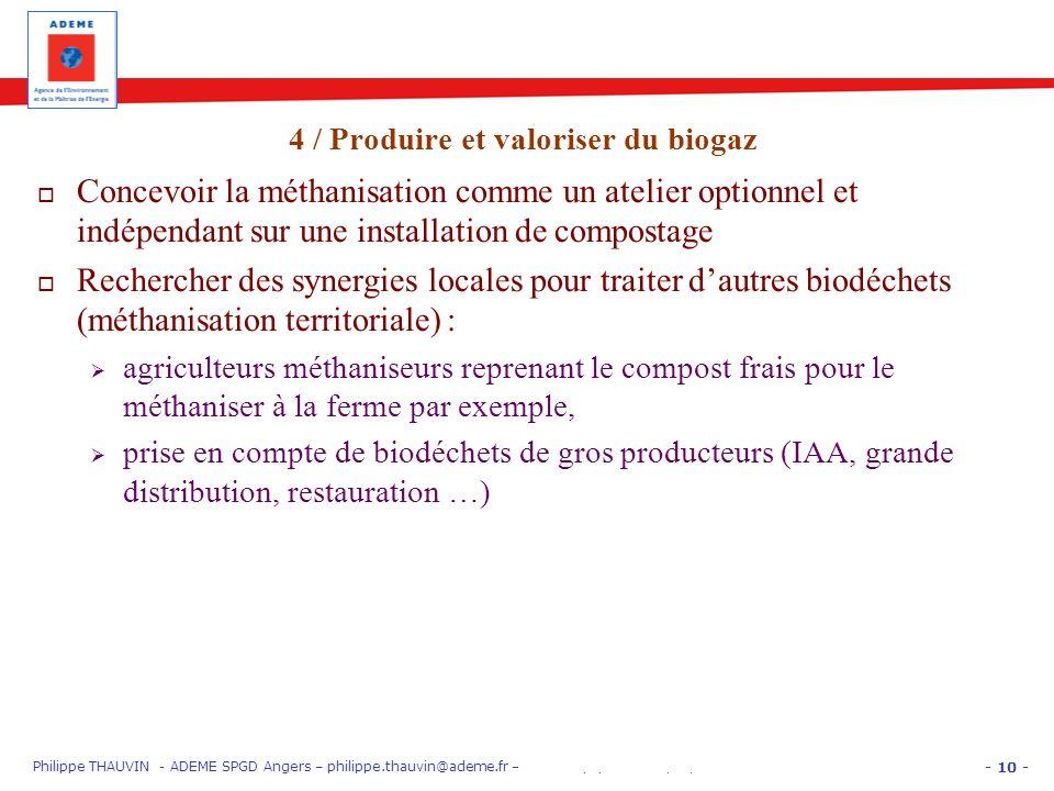 - 10 - Philippe THAUVIN - ADEME SPGD Angers – philippe.thauvin@ademe.fr – PARIS EquipHôtel 12/11/12 « Gros Producteurs » : trier les biodéchets Concev