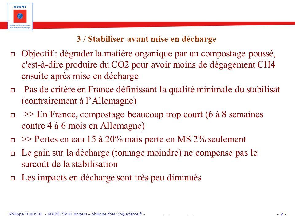 - 7 - Philippe THAUVIN - ADEME SPGD Angers – philippe.thauvin@ademe.fr – PARIS EquipHôtel 12/11/12 « Gros Producteurs » : trier les biodéchets Objecti