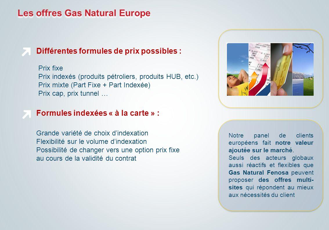 Différentes formules de prix possibles : Prix fixe Prix indexés (produits pétroliers, produits HUB, etc.) Prix mixte (Part Fixe + Part Indexée) Prix c