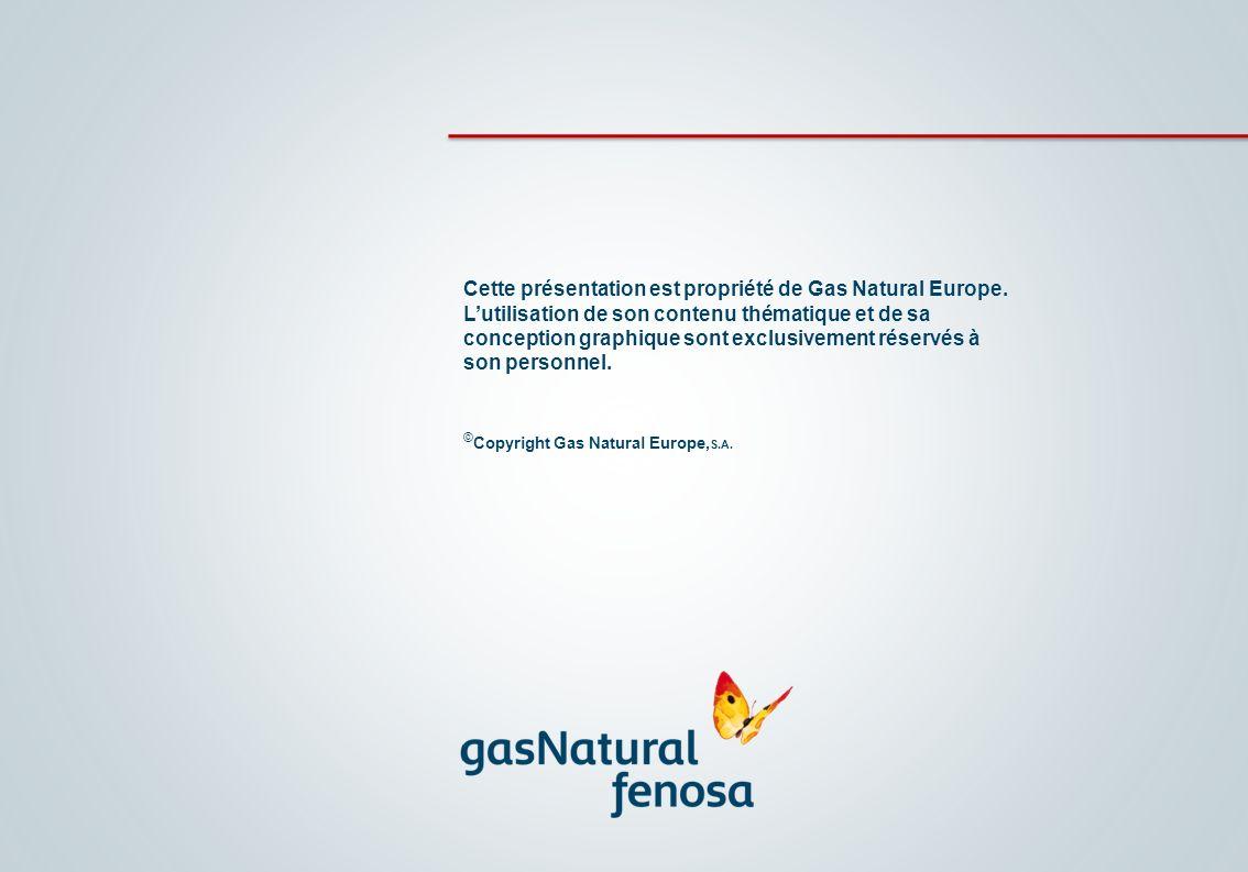 Cette présentation est propriété de Gas Natural Europe. Lutilisation de son contenu thématique et de sa conception graphique sont exclusivement réserv