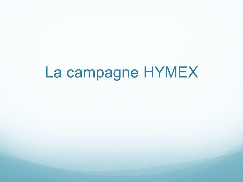 La campagne HYMEX
