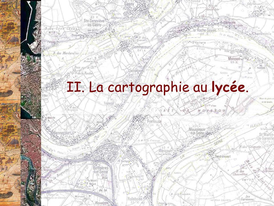 II. La cartographie au lycée.