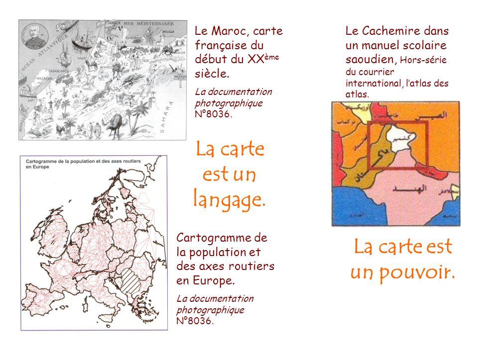 Cartogramme de la population et des axes routiers en Europe. La documentation photographique N°8036. Le Maroc, carte française du début du XX ème sièc