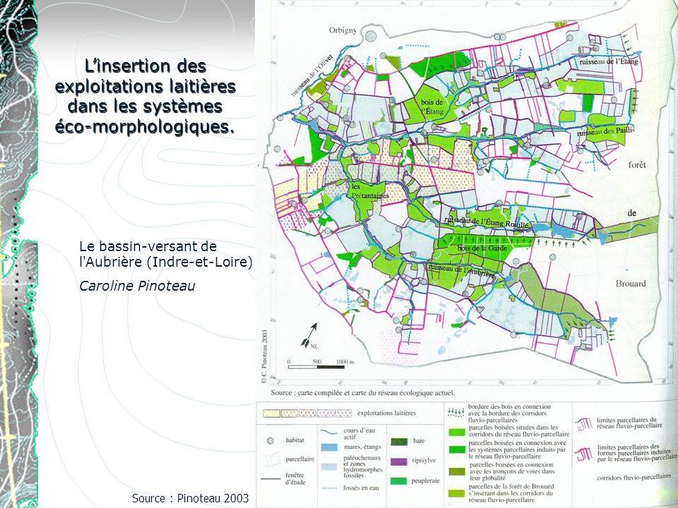 Linsertion des exploitations laitières dans les systèmes éco-morphologiques. Le bassin-versant de l'Aubrière (Indre-et-Loire) Caroline Pinoteau Source
