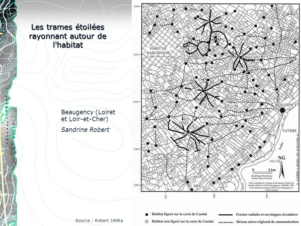 Les trames étoilées rayonnant autour de l'habitat Beaugency (Loiret et Loir-et-Cher) Sandrine Robert Source : Robert 1996a