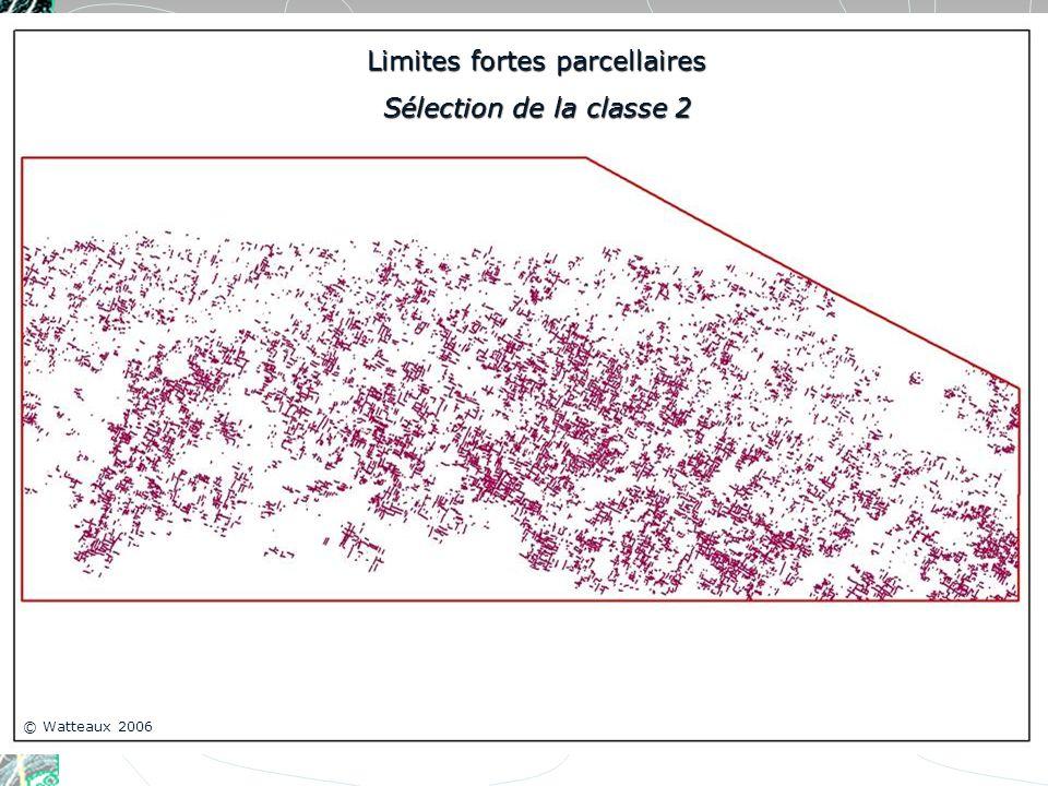 Limites fortes parcellaires Sélection de la classe 2 © Watteaux 2006