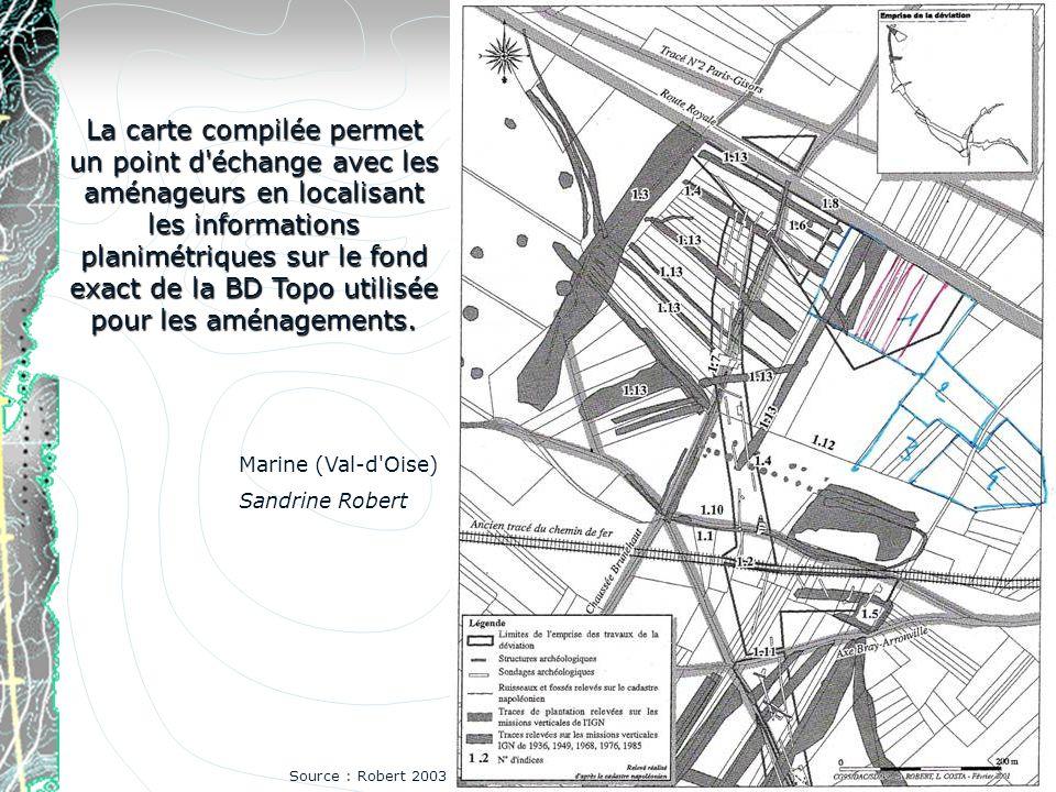 La carte compilée permet un point d'échange avec les aménageurs en localisant les informations planimétriques sur le fond exact de la BD Topo utilisée