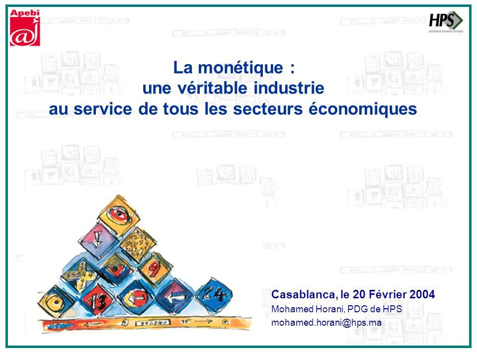 Casablanca, le 20 Février 2004 Mohamed Horani, PDG de HPS mohamed.horani@hps.ma La monétique : une véritable industrie au service de tous les secteurs