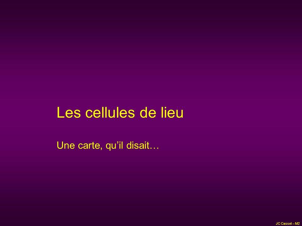 JC Cassel – M2 Les cellules de lieu Et la boussole…