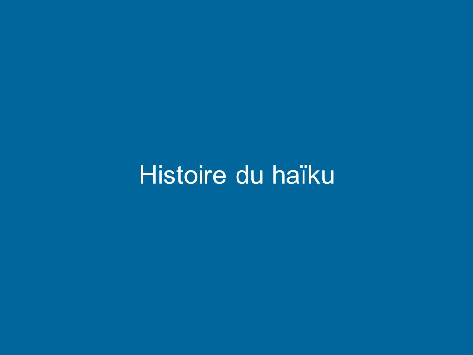 La carte du haïku