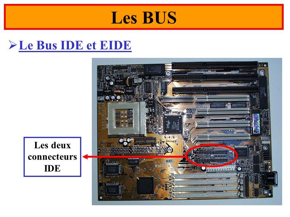 43 Le Bus IDE et EIDE Les BUS Les deux connecteurs IDE