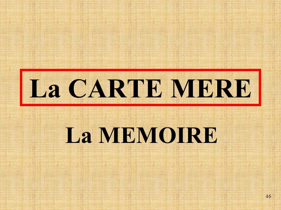 46 La CARTE MERE La MEMOIRE