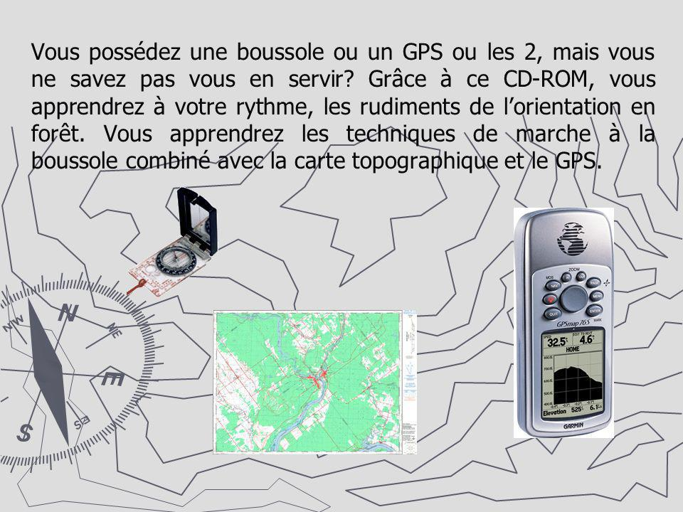 Vous possédez une boussole ou un GPS ou les 2, mais vous ne savez pas vous en servir? Grâce à ce CD-ROM, vous apprendrez à votre rythme, les rudiments