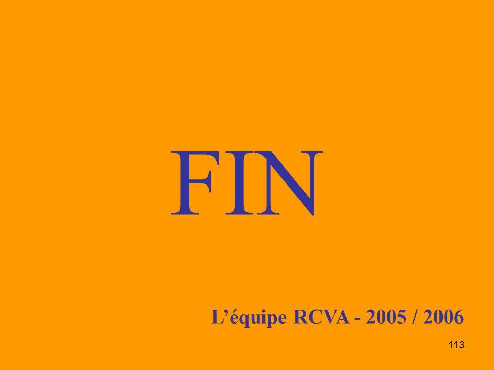 113 FIN Léquipe RCVA - 2005 / 2006