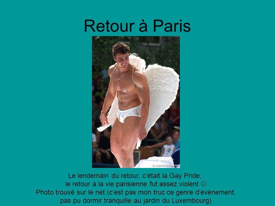 Retour à Paris Le lendemain du retour, cétait la Gay Pride, le retour à la vie parisienne fut assez violent Photo trouvé sur le net (cest pas mon truc