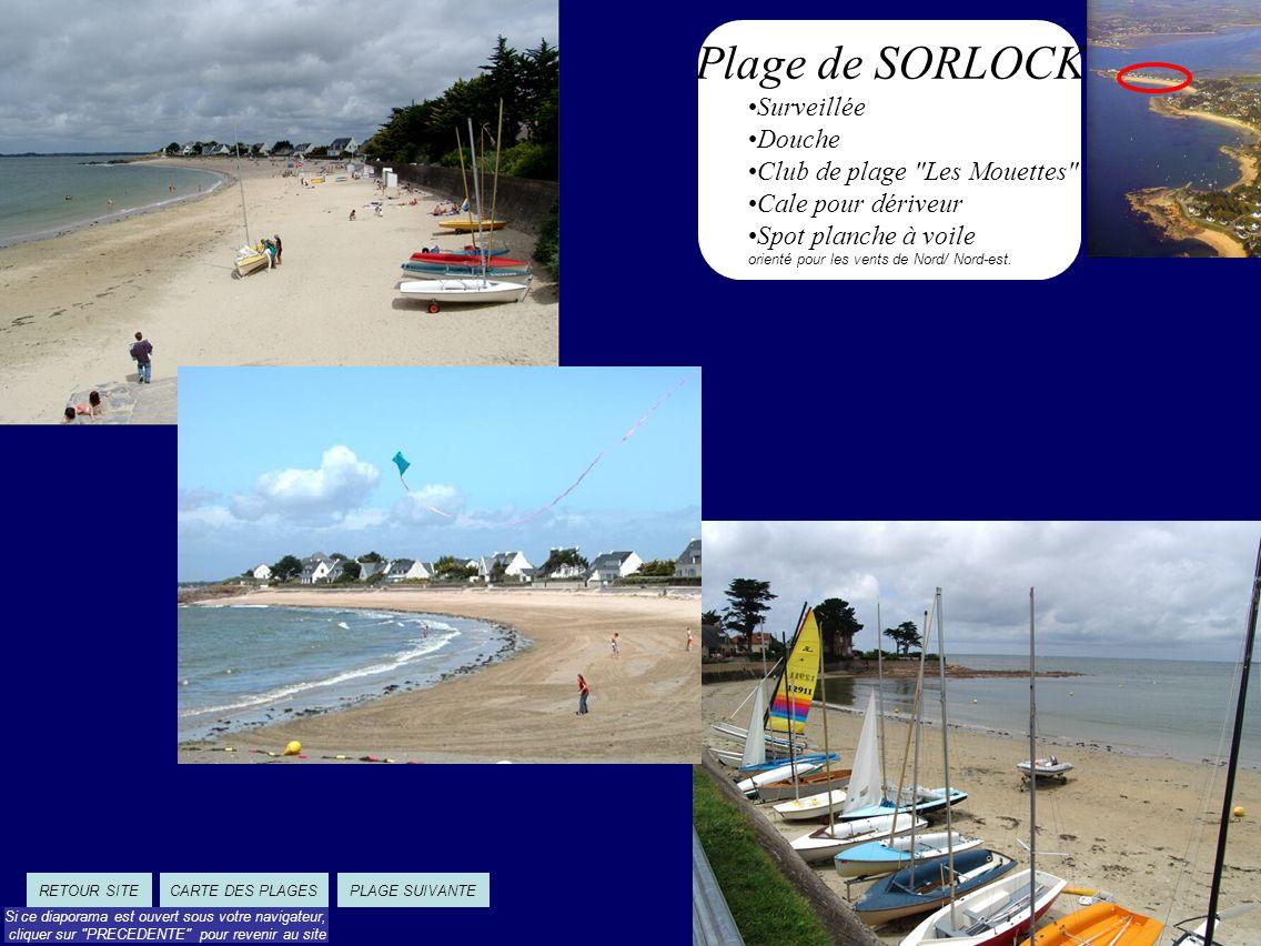 Plage de SORLOCK Surveillée Douche Club de plage