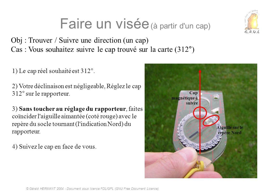 © Gérald HERMANT 2004 - Document sous licence FDL/GPL (GNU Free Document Licence) Faire un visée (à partir d'un cap) Obj : Trouver / Suivre une direct