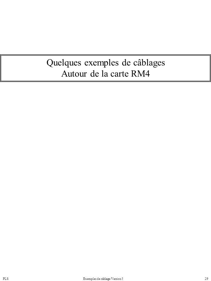 PLSExemples de câblage Version 529 Quelques exemples de câblages Autour de la carte RM4