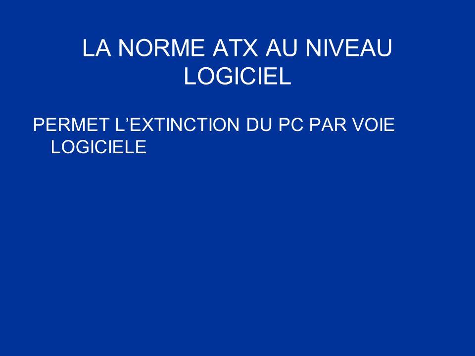 LA NORME ATX AU NIVEAU LOGICIEL PERMET LEXTINCTION DU PC PAR VOIE LOGICIELE