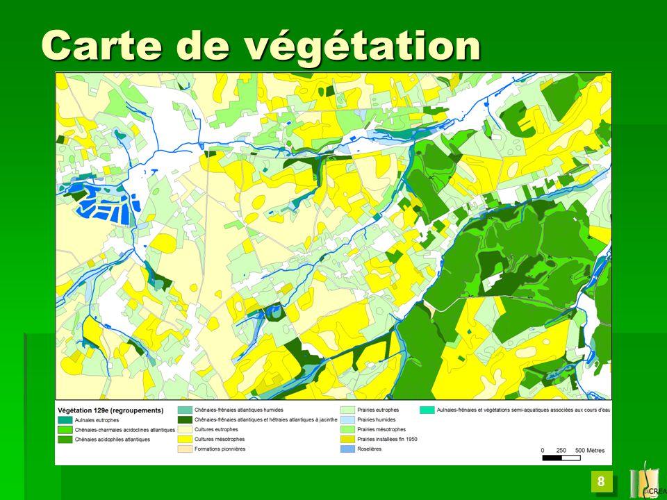 8 Carte de végétation
