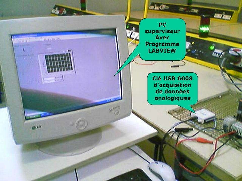 PC superviseur Avec Programme LABVIEW Clé USB 6008 dacquisition de données analogiques