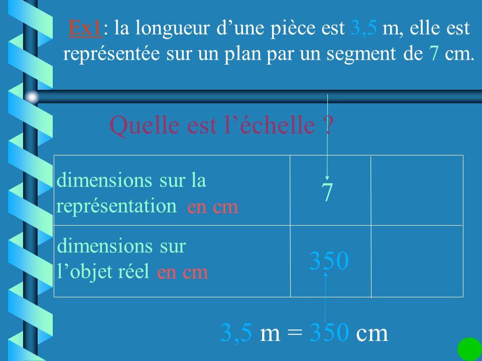 Les dimensions sur les deux lignes doivent être exprimées dans la même unité. dimensions sur la représentation dimensions sur lobjet réel en cm