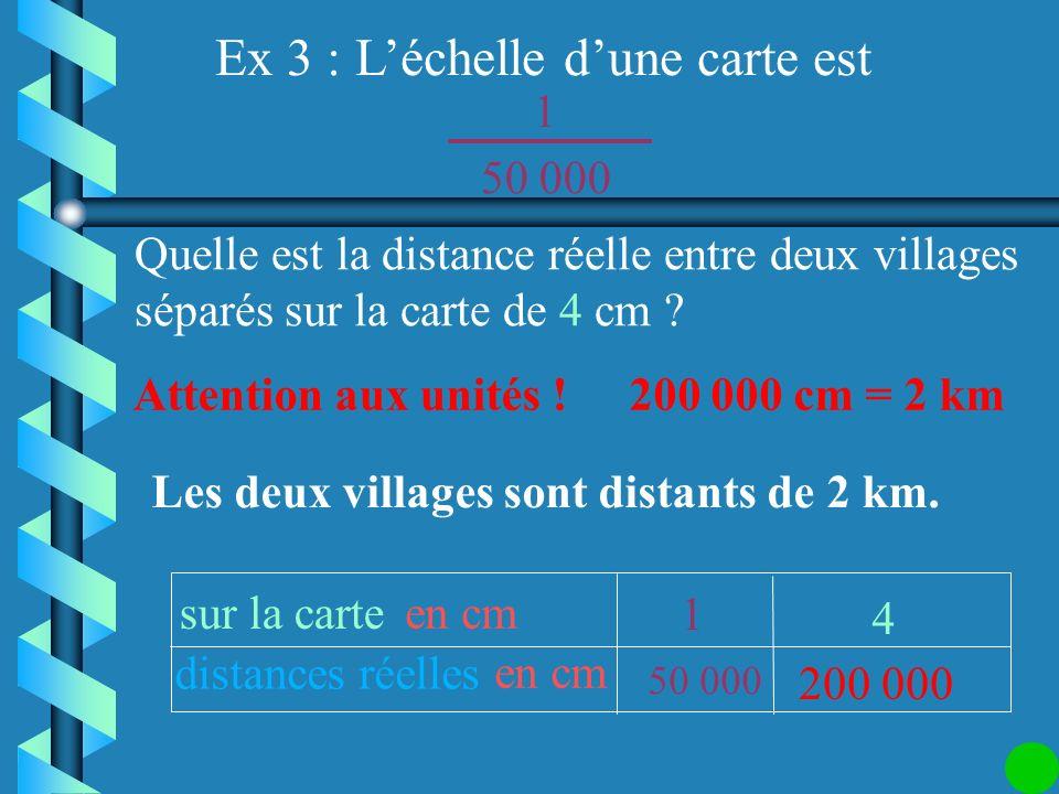 On calcule la distance réelle sur la carte distances réelles en cm 4 1 50 000 1 Quelle est la distance réelle entre deux villages séparés sur la carte