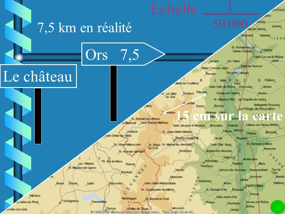 4 cm sur la carte Le Bourg Villette 2 2 km en réalité Echelle 1 50 000