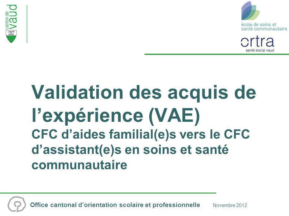 Office cantonal dorientation scolaire et professionnelle Novembre 2012 2/12 Plan de présentation Contexte En quoi consiste cette procédure .