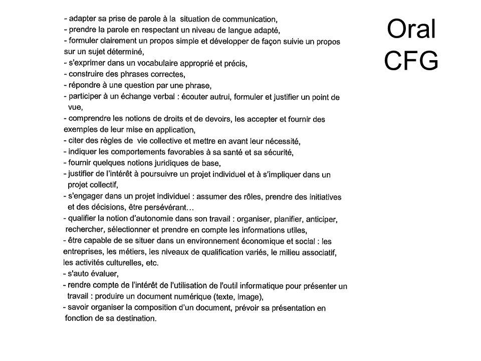 Oral CFG