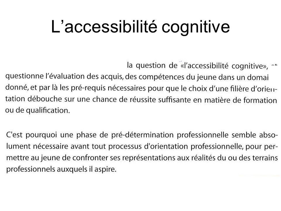 Laccessibilité cognitive