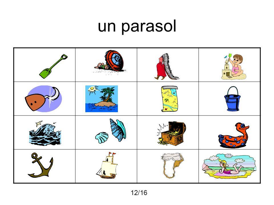 un parasol 12/16