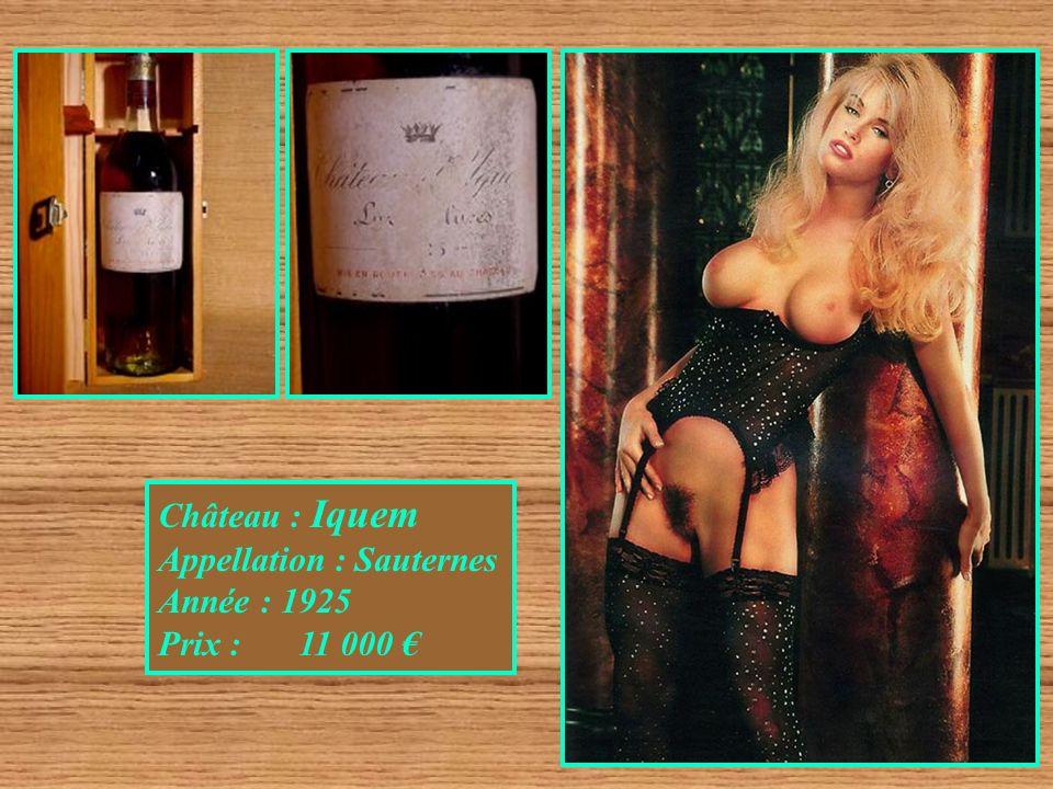Château : Cheval Blanc Appellation : Sain Emilion Année : 1982 Prix : 9 000