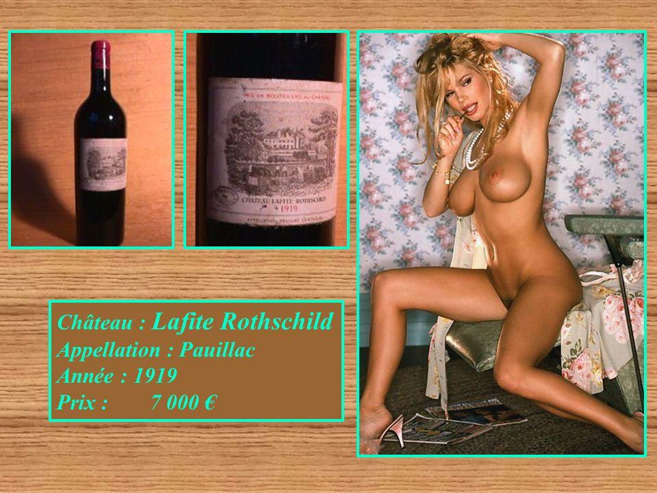 Château : Lafite Rothschild Appellation : Pauillac Année : 1919 Prix : 7 000
