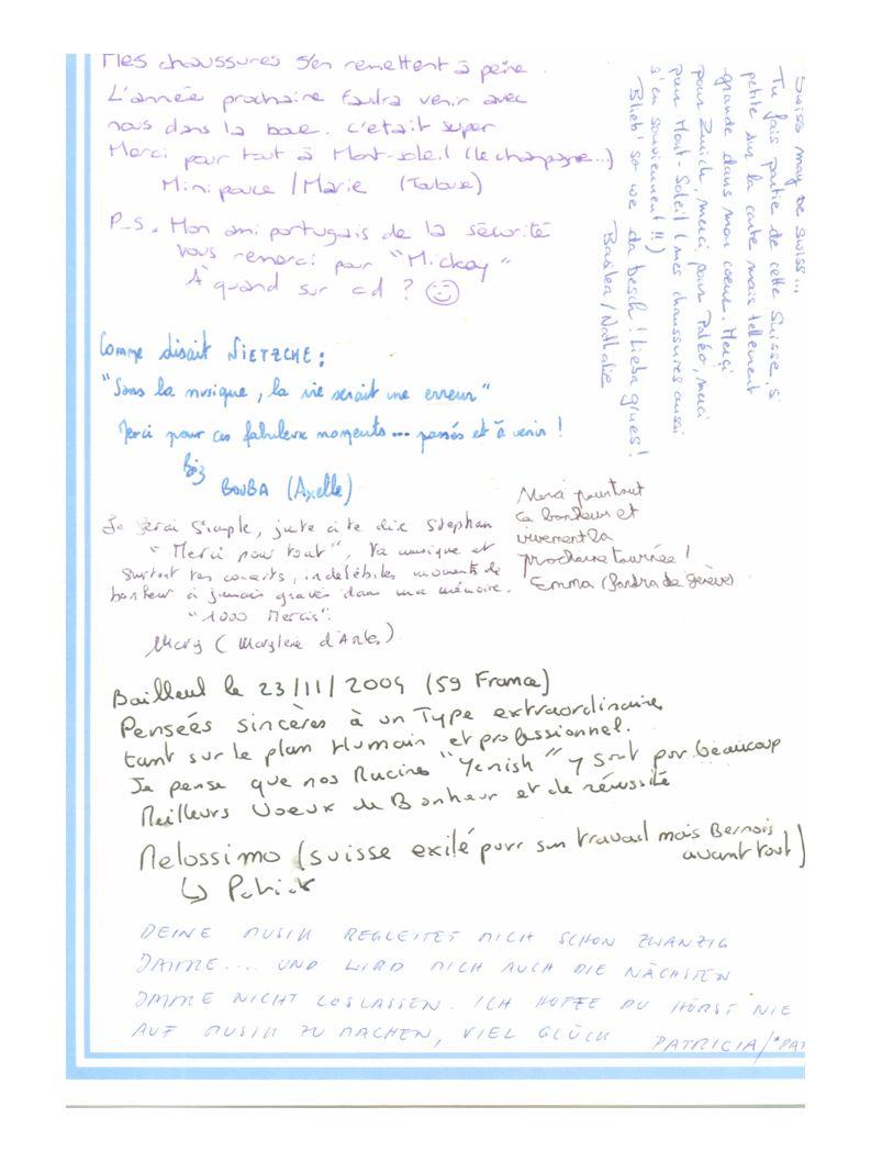 Et envoie la carte le 25 Mars 2005 Aude prend le relai