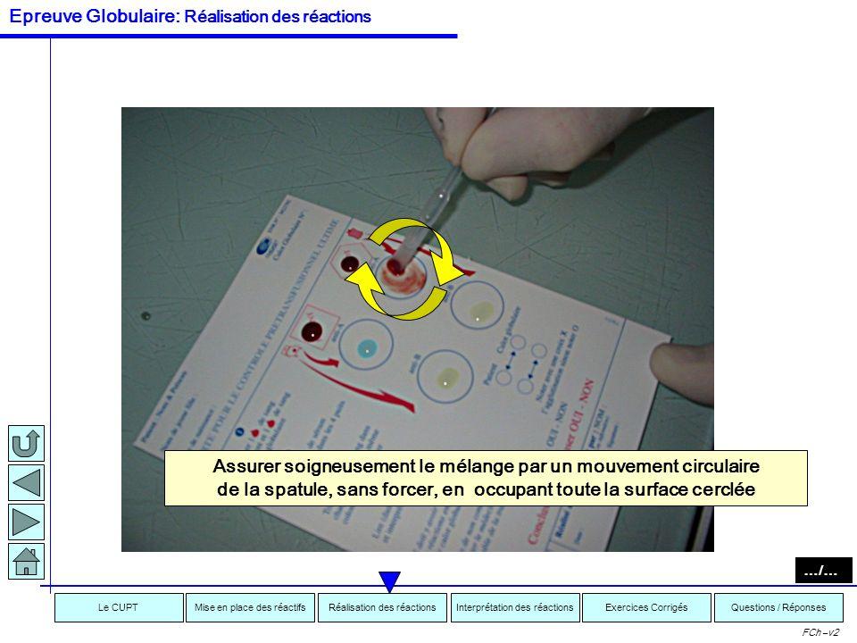 Interprétation des réactionsRéalisation des réactionsMise en place des réactifsExercices CorrigésLe CUPTQuestions / Réponses FCh –v2 « Tremper » lextr