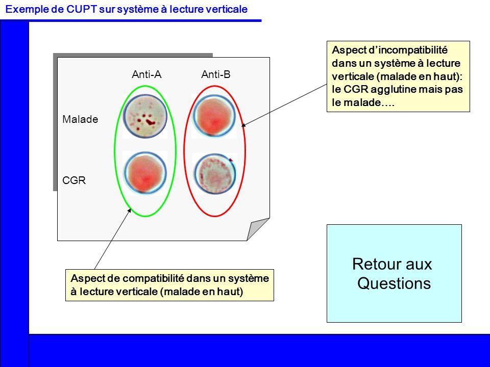 Interprétation des réactionsRéalisation des réactionsMise en place des réactifsExercices CorrigésLe CUPTQuestions / Réponses FCh –v2 O B AB A Retour a
