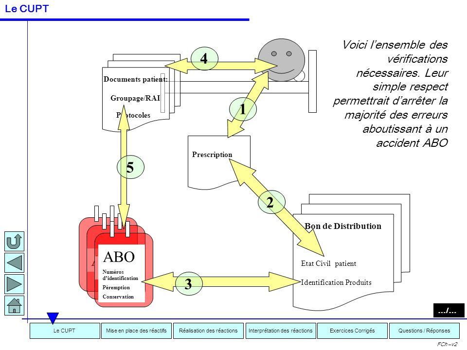 Interprétation des réactionsRéalisation des réactionsMise en place des réactifsExercices CorrigésLe CUPTQuestions / Réponses FCh –v2 Le contrôle ultim
