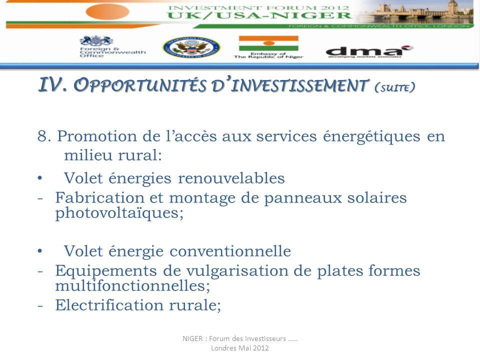 8. Promotion de laccès aux services énergétiques en milieu rural: Volet énergies renouvelables -Fabrication et montage de panneaux solaires photovolta