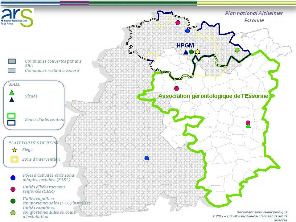 Cartographie L état davancement de la mise en œuvre des mesures du plan national Alzheimer 2008-2012