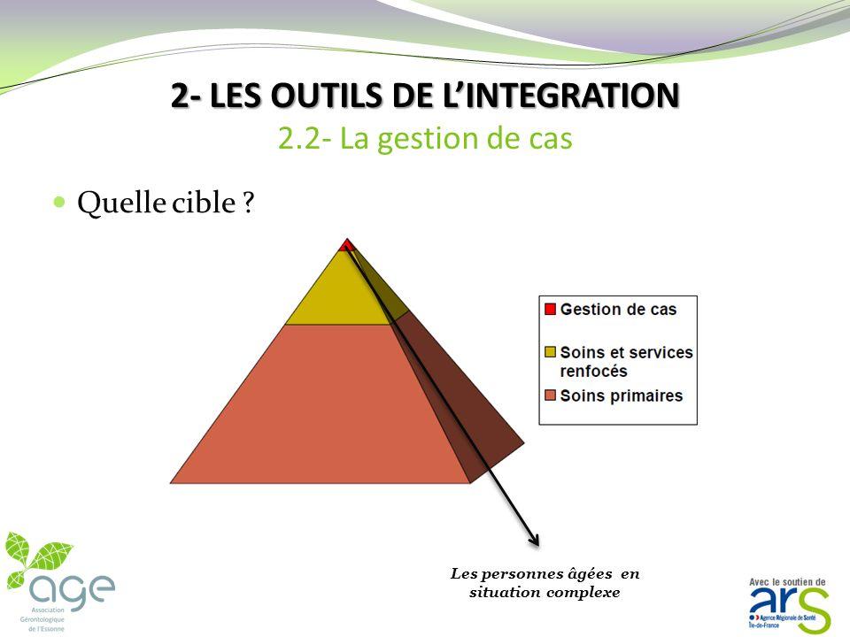 2- LES OUTILS DE LINTEGRATION 2- LES OUTILS DE LINTEGRATION 2.2- La gestion de cas Il sagit dun nouveau champ professionnel Objectif : améliorer loppo