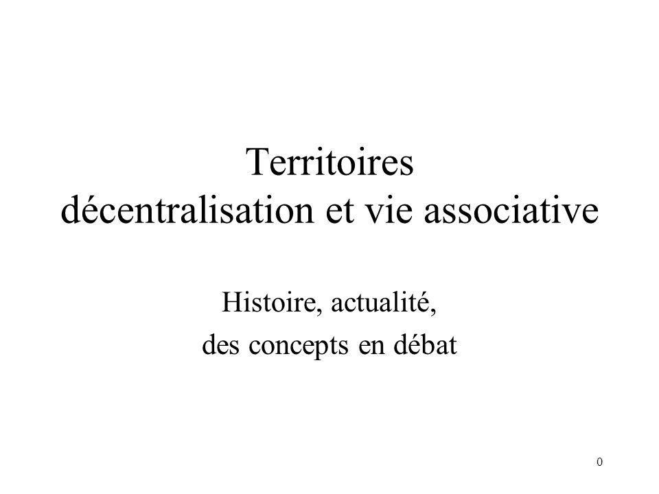 1 La décentralisation Divers types de gouvernances possibles (exécutif/délibératif).