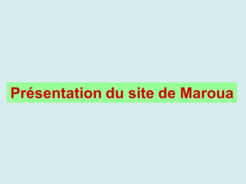 Soins offerts (Centres de santé) Maroua urbain (16 CS) Maroua rural (1CS) CPN 161 SONEUB 121 PF (délivrance de contraceptifs) 131 IST dépistage et traitement 161 SIDA (dépistage) 141 SR (IEC) 9- Soins post-avortement 2-