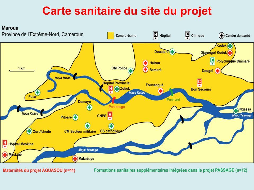 Carte sanitaire du site du projet