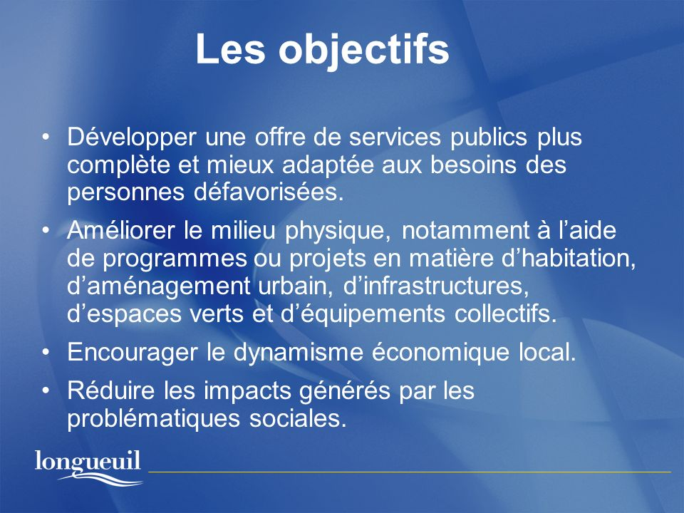 Le fonctionnement de la RUI (4) Le comité de pilotage Composition (partenaires terrains) – CSSS Champlain – CSSS Pierre-Boucher – Ville de Brossard – Ville de Longueuil – Corporation de développement communautaire de Longueuil – ROC-4M – Agglomération de Longueuil