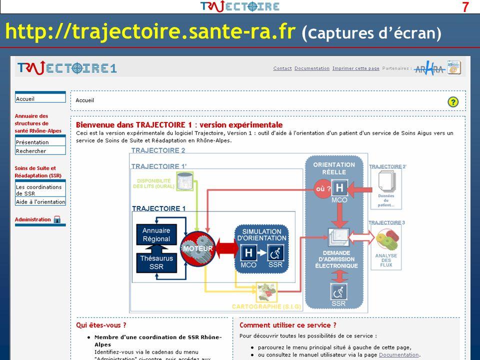 7 http://trajectoire.sante-ra.fr (c aptures décran)