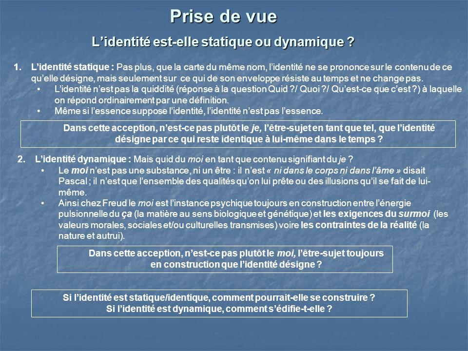 Questions 1.Les valeurs que je fais miennes contribuent-elles à lédification de mon identité .